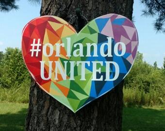 Orlando United Door Hanger, #orlandostrong, #orlando, LGBTQ, pride