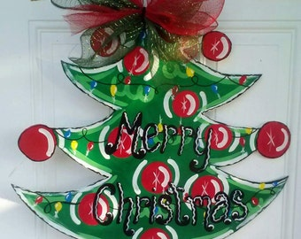 Christmas Tree Door Hanger, wreath