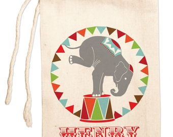 Kids Gift Bags, Vintage Circus Theme Party Favors, Circus Birthday Favors, Circus Elephant Custom Party Favor Bags,