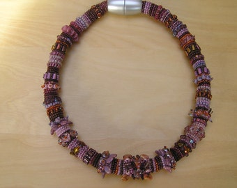 Bead embroidery necklace : Rope