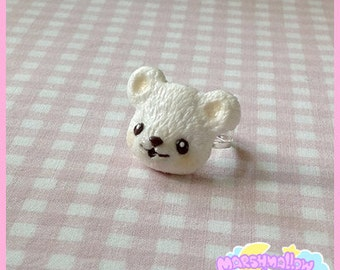 Little polar bear ring cute and kawaii