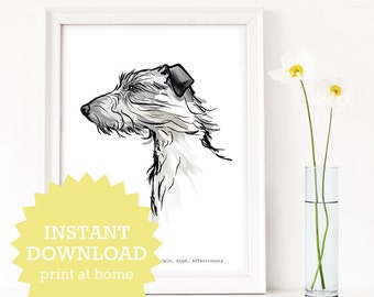 Lurcher Wall Art , Lurcher print , gift for Lurcher lover, instant download dog art, gift for dog lover, Lurcher gift, Lurcher art
