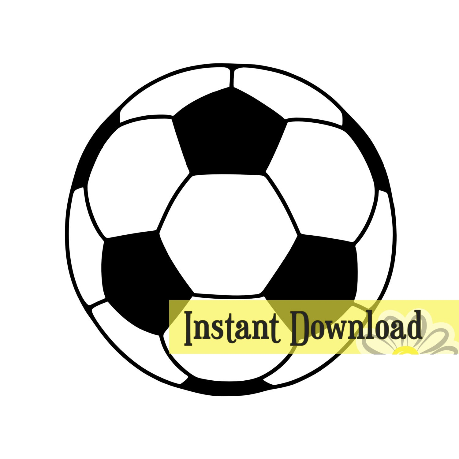 Instant Stencils Product : Soccer ball svg studio cut file instant download
