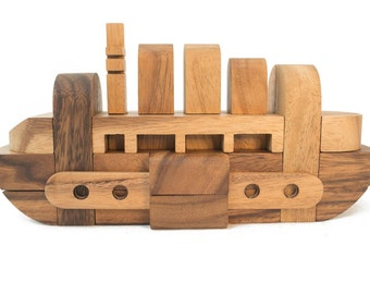 Ship Puzzle - 3D Interlocking wooden puzzle