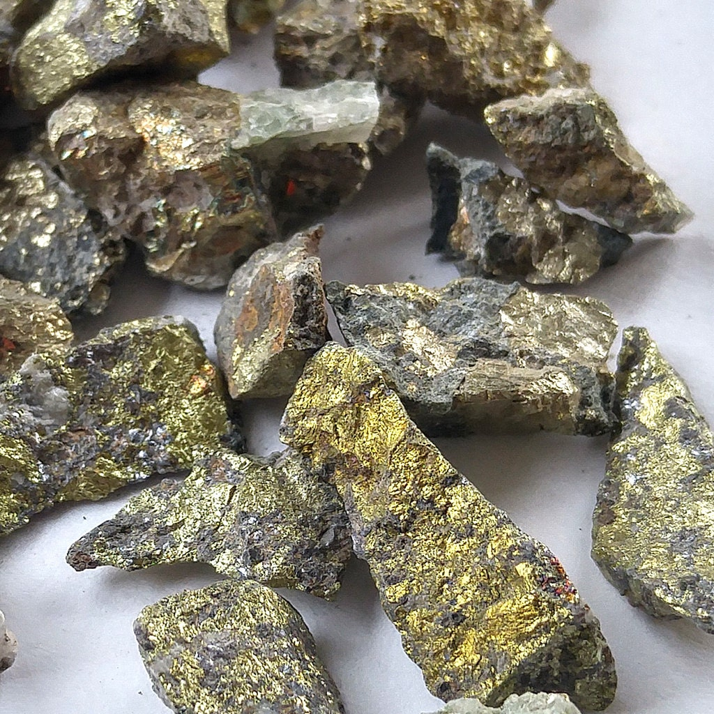 Pyrite. raw. fools gold. rocks. chips. lot. orgone diy ...