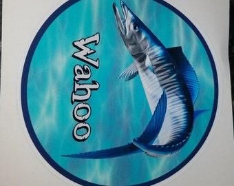 Wahoo Decal, fish sticker