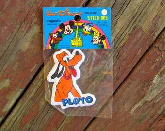 Vintage Disney Souvenir - Pluto Two-In-One Stick-on - Disney Pluto Magnet