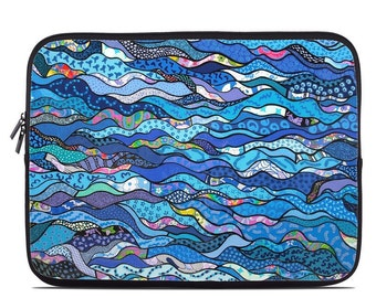 Laptop Sleeve Bag Case - The Blues by Allison Gregory - Neoprene Padded - Fits MacBooks + More