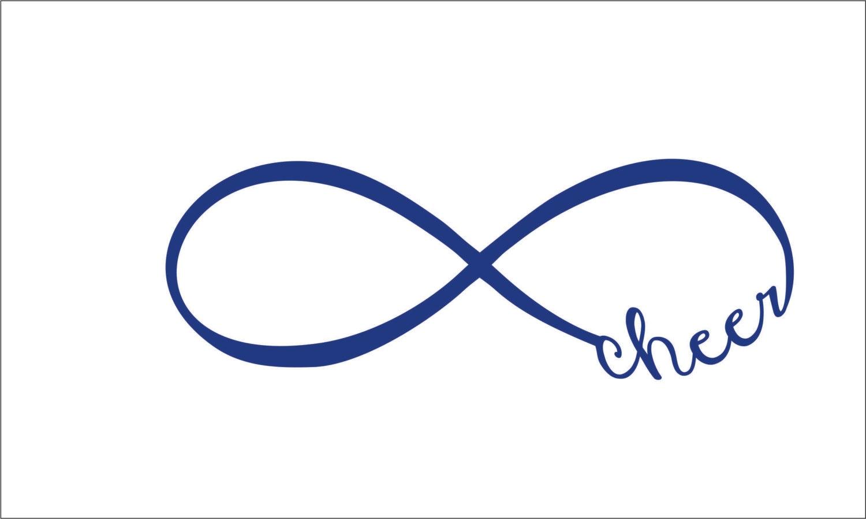 Infinity Loop Cheer Eps Svg Dxf Png Instant Digital Download