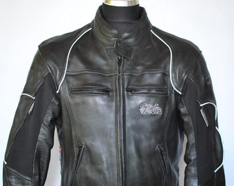 Vintage MODEKA LEATHER JACKET , speed race motorcycle jacket , men's jacket .....(154)