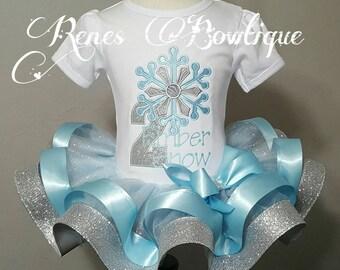 Snowflake Ribbon Tutu Set