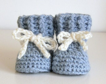 Printable Crochet Pattern For Baby Booties : crochet pattern Cozy Cuffs Baby Booties folded cuff ...