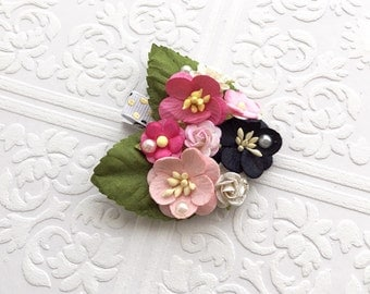 The Pink and Black Fairy Kissed Headband/Hair Clip