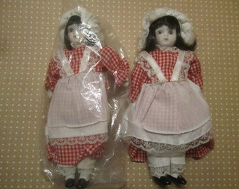 2 Vintage Doll Bisque Supply Birthday Doll Lot NOS