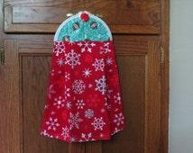 Christmas Snowman Towel Hanging Kitchen Towel Tie Towel, Decorative Towel Hanging Dish Towel