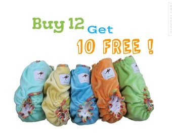 AiO All in One Momgaroo Organic Cotton Cloth Diapers Sale Bundle Pack