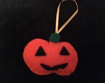 Felt Pumpkin Halloween Decoration
