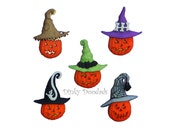 JACKS IN HATS by Dress It Up!  for card making, scrapbooking, sewing buttons, Halloween buttons