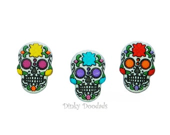 SUGAR SKULLS by Dress It Up!  for card making, scrapbooking, sewing buttons, Halloween buttons