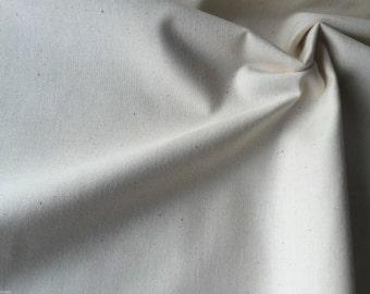 Plain Cream 100% Cotton Fabric Material - Extra Wide 240cm per metre - CREAM Cotton fabric