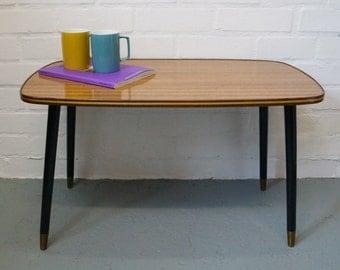 Mid century wood effect coffee table