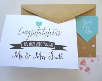 Personalised Congratulations on your Wedding Day card -WC1