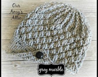 Crochet Brimmed Beanie