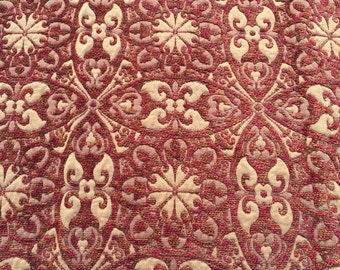 Baroque Chenille in Ruby-Pillow - This Listing is for One Pillow
