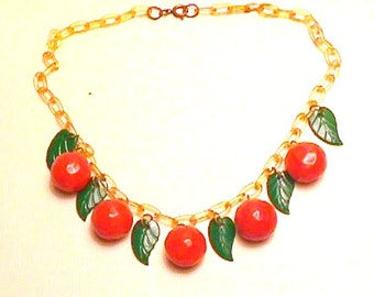 Bakelite Necklace Oranges