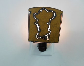 Mississippi rebel night light made out of rusted metal