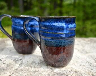 Cobalt Midnight Blue Ceramic Mugs