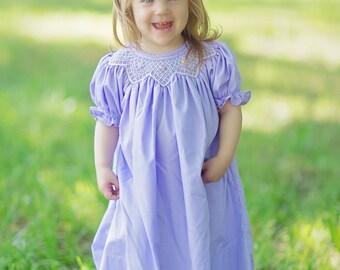 Lavender Smocked Bishop