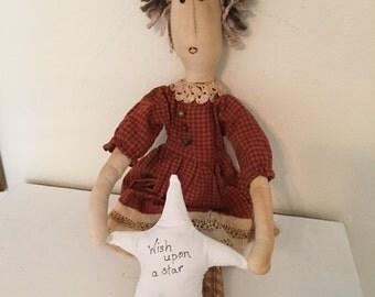 Wish Upon a Star Cloth Doll Prim Rag Doll