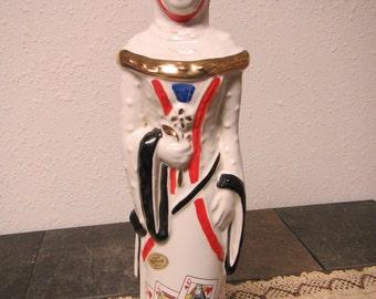 vintage 1969 EZRA BROOKS China Heritage Decanter * Chinese Lady Decanter, Royal flush hearts