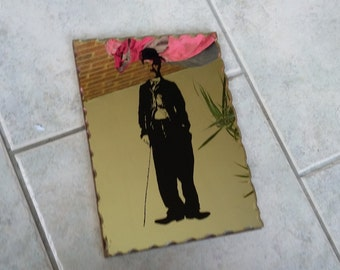 Vintage Retro Mirror of Charlie Chaplin