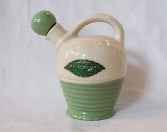 Mohawk Green Creme De Menthe Liqueur 1920/30's Stoneware Bottle With Stopper