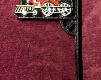 Vintage Coat / Hat Hanger - Cast Iron - Locomotive