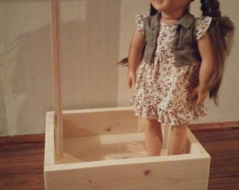 """Clothing rack and accessory bin for 18"""" Dolls"""