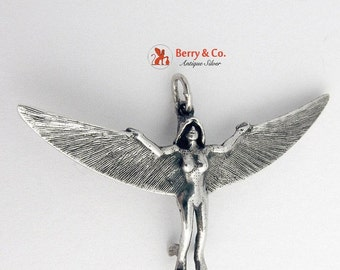 SaLe! sALe! Mythical Pendant Winged Woman Sterling Silver