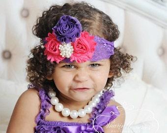 Chiffon Flower Headband ~ Ivory Headband - Newborn Headband - Baby Headband - Chiffon Headband - Infant Headband - Photo Prop - Baby Girl