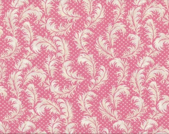 Coral Garden Romance, 100% Cotton Fabric Sold by Half Yard (22230)