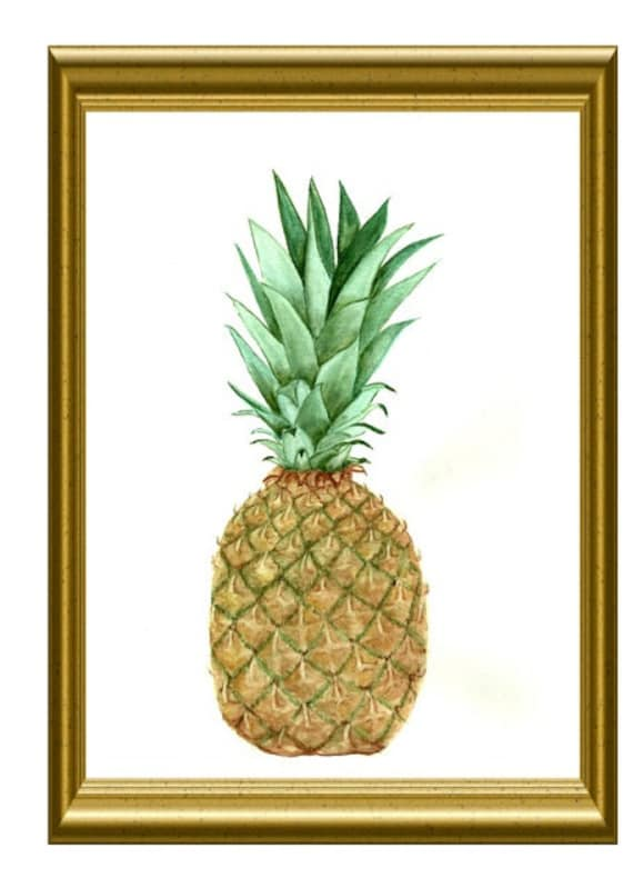 Items Similar To Pineapple Print Ananas Print Wall Art Decor Kitchen Print Fruit Poster On Etsy
