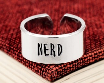 Nerd Ring - Large Adjustable Aluminum Ring