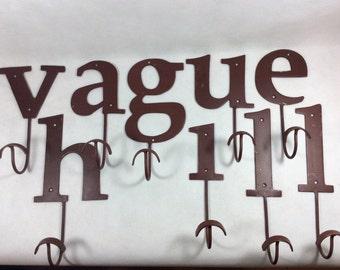 Vintage iron hook letter hook cast iron coat hook name hooks a e g h i l u v alphabet hooks alpha letters 0100