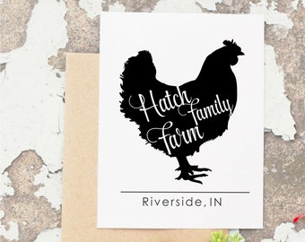 Chicken Stamp, Egg Stamp, Farm Rubber Stamp, Self-Inking Animal Stamp, Rooster Stamp,  Egg Carton Stamp, Farm Logo CS-10266