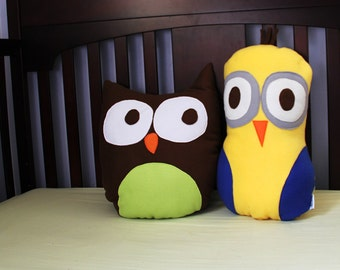 Kids Decorative Pillows - Yellow - Kids Decor - Sunny the Owl