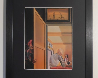 """Mounted and Framed - Gala and the Angelus of Millet Print by Salvadore Dali - 16"""" x 12"""""""