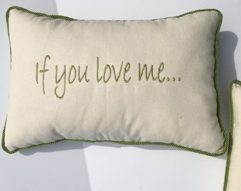 If you love me pillow set