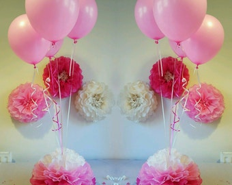 Party wedding baby shower christening sweet 16th  decorations. table centrepieces  14inch balloon weights (balloons not included)