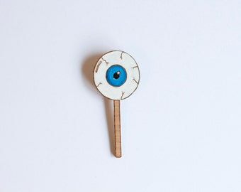 Eye Candy - Wooden Brooch
